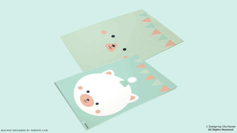 Pastelowe kartki urodzinowe do druku