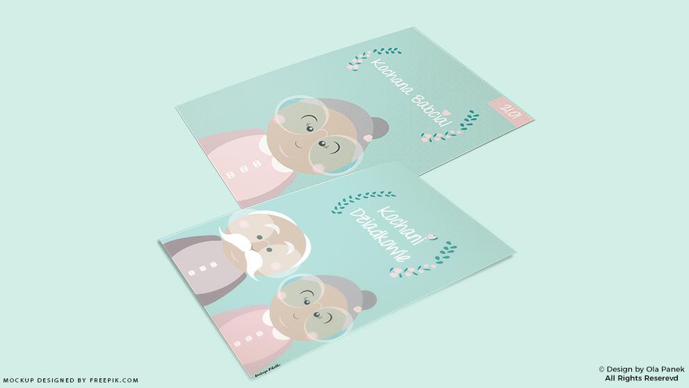 Plakaty i kartki na dzień babci i dziadka