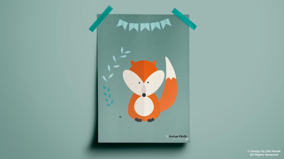 Plakaty z leśnymi zwierzętami