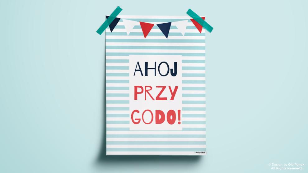 Ahoj przygodo! Czyli plakaty dla małych marynarzy!