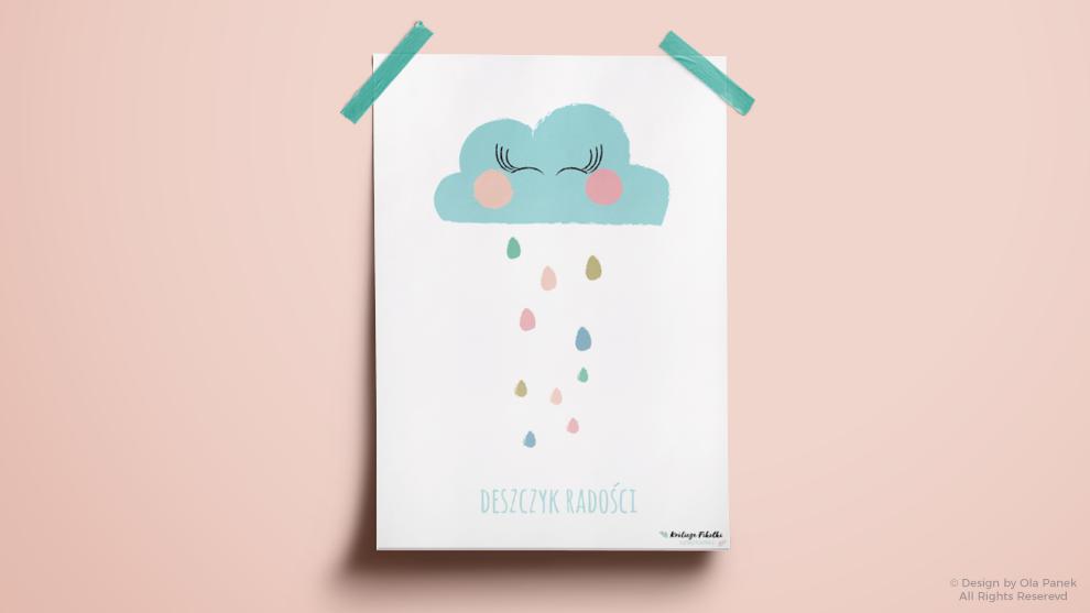 Pudrowe niebo – plakaty z życzeniami dla Maluszka