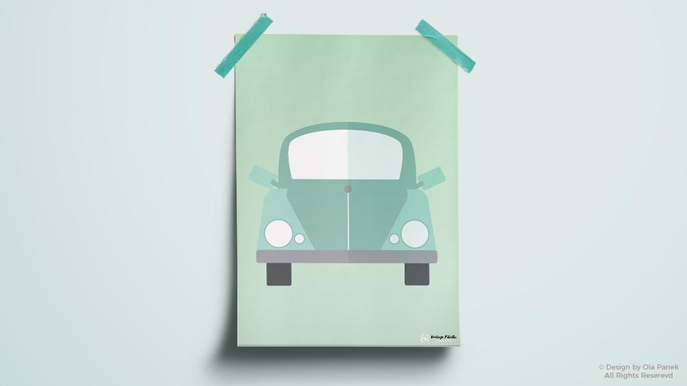 Pastelowe samochodziki