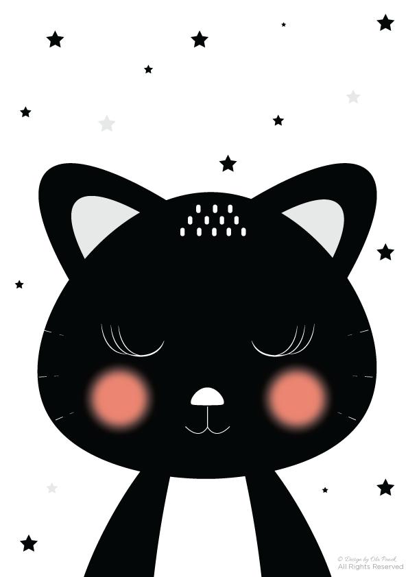 Plakaty Z Kotem Do Druku Królicze Fikołki