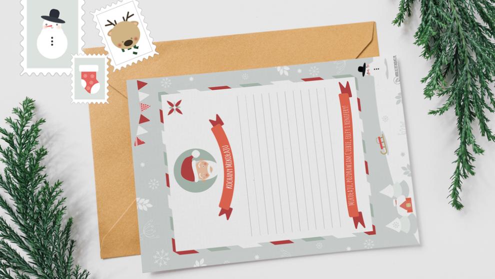 List do mikołaja i znaczki świąteczne