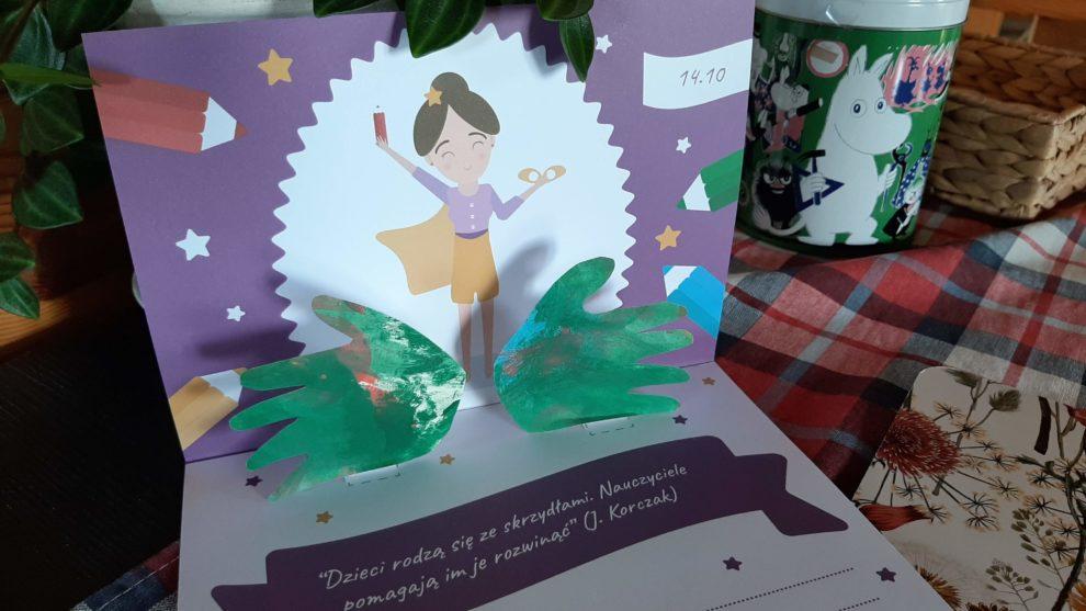 Kartka 3D na Dzień Nauczyciela